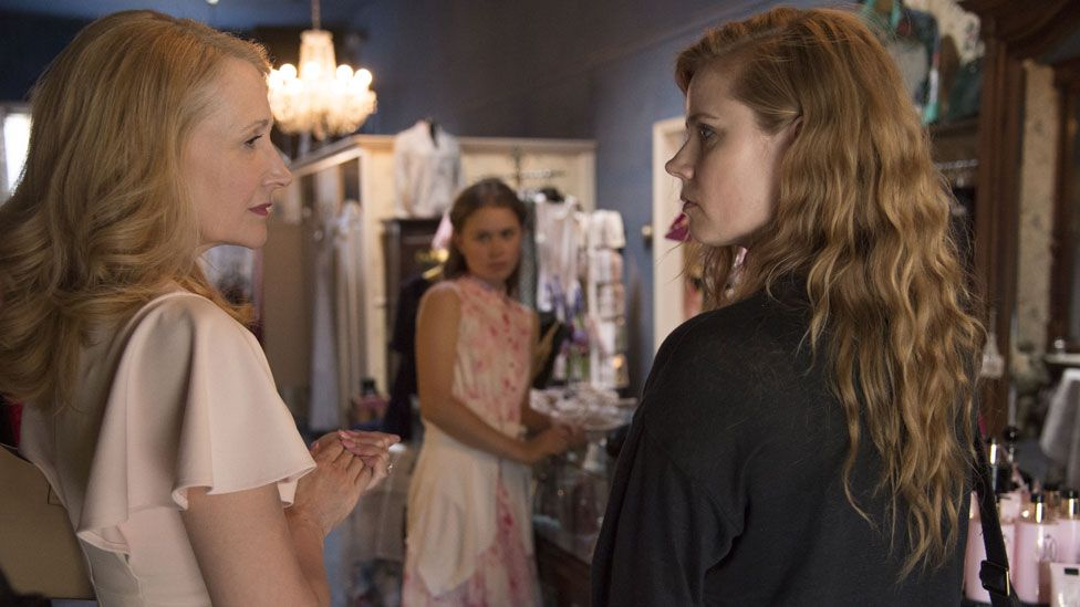 Amy Adams and Patricia Clarkson with Eliza Scanlen in Sharp Objects