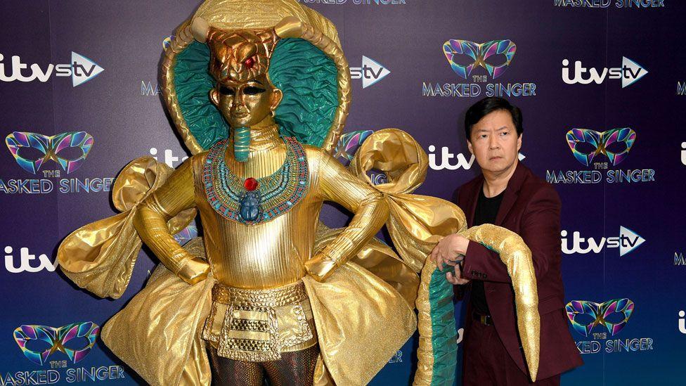 Ken Jeong with 'Pharoah'