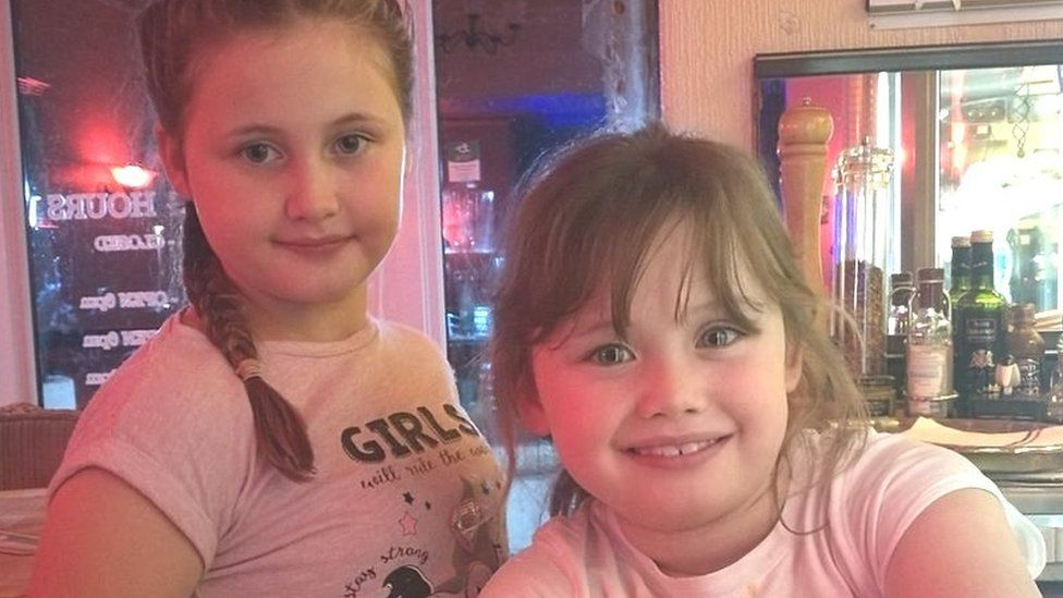 Charlotte, 10, and Sophie, eight