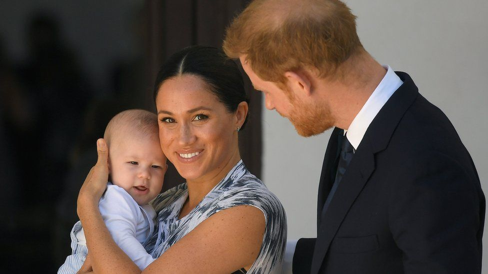 The Duke and Duchess of Sussex with their son, Archie