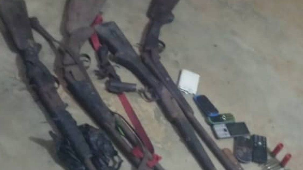 Guns seized from the Cameroon separatists