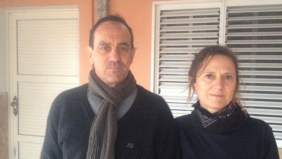 Horacio and his wife Rosalia