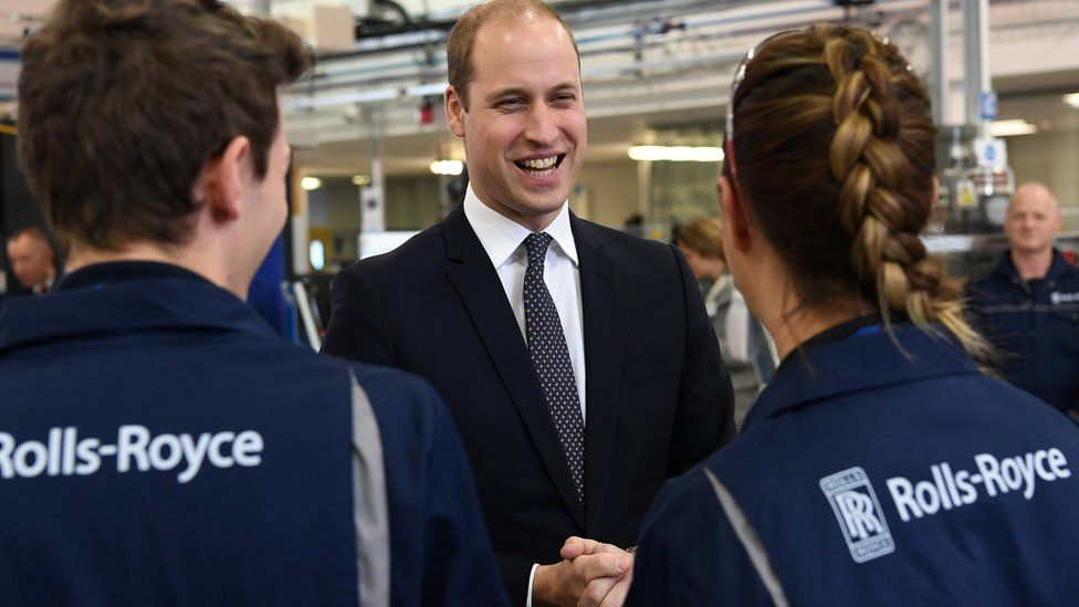 Prince William at Rolls-Royce