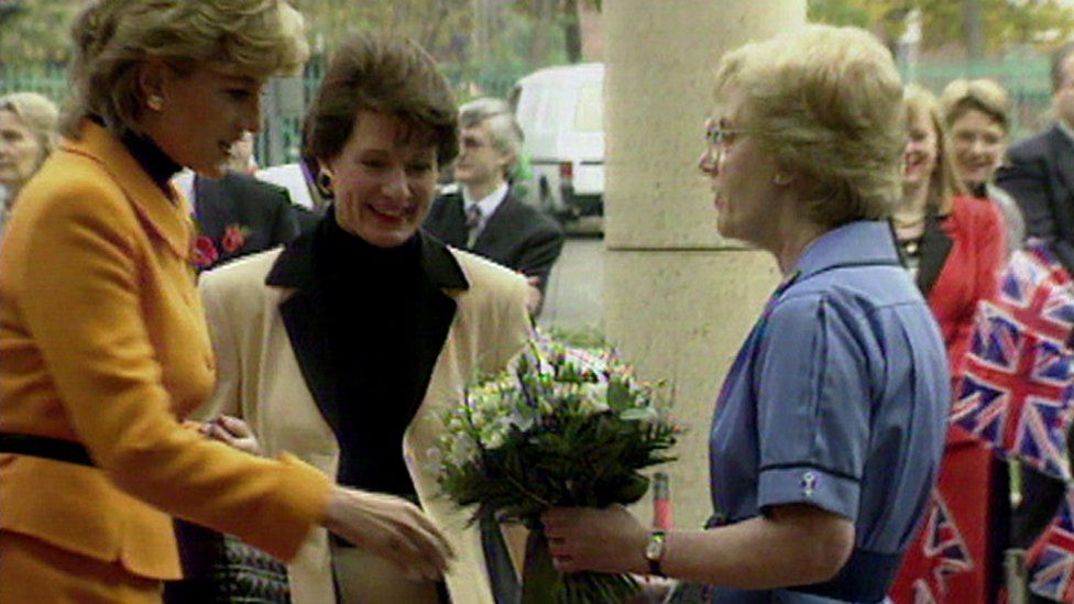 Diana Princess of Wales at the hospital's opening