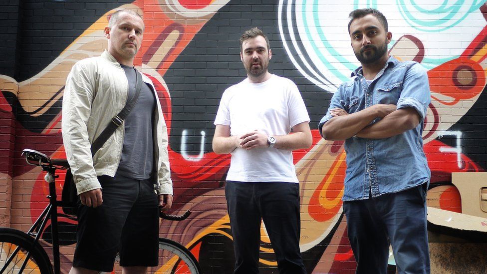 TrueView founders (l-r) Damian Mitchell, Andrew Ibbotson and Matt Verity