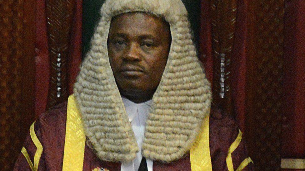 The speaker of Kenya's parliament Justin Muturi
