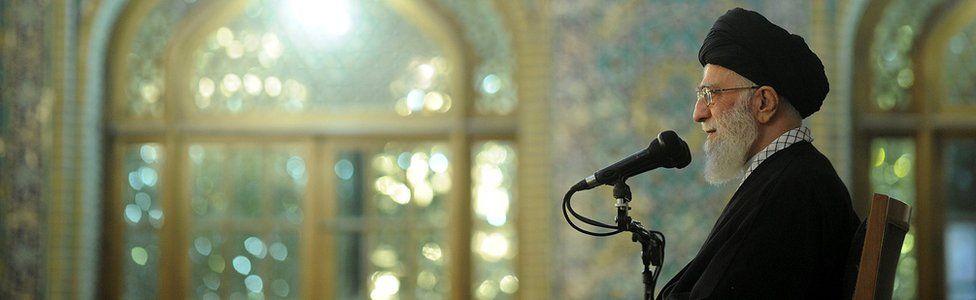 Ayatollah Ali Khamenei delivers a speech in Mashhad (21 March 2017)