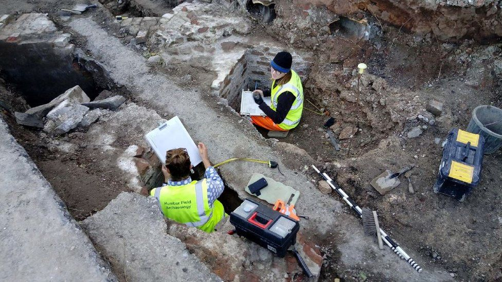 The dig at the South Blockhouse in Hull