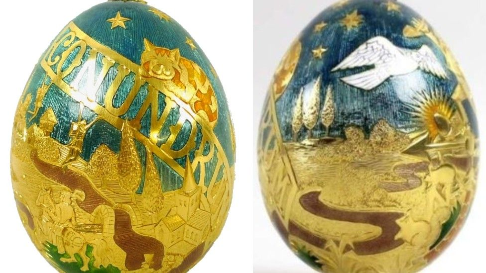 Golden Cadbury's egg - to be auctioned