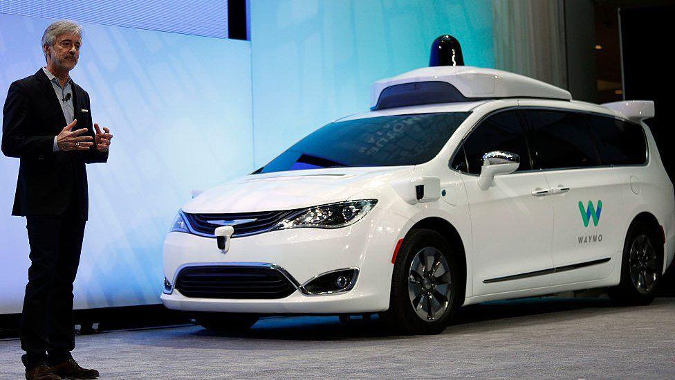 Waymo autonomous Chrysler mini-van