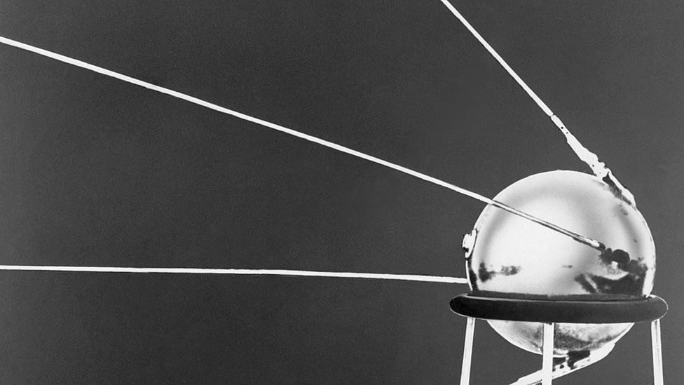 Sputnik 1 was the first man-made satellite to orbit Earth, launched by the Soviets in 1957