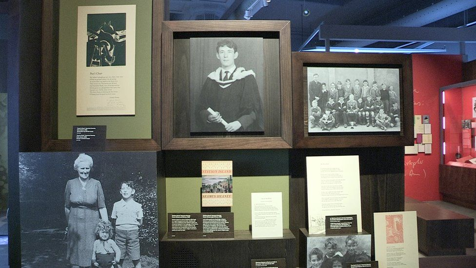 A selection of family photographs in the exhibition