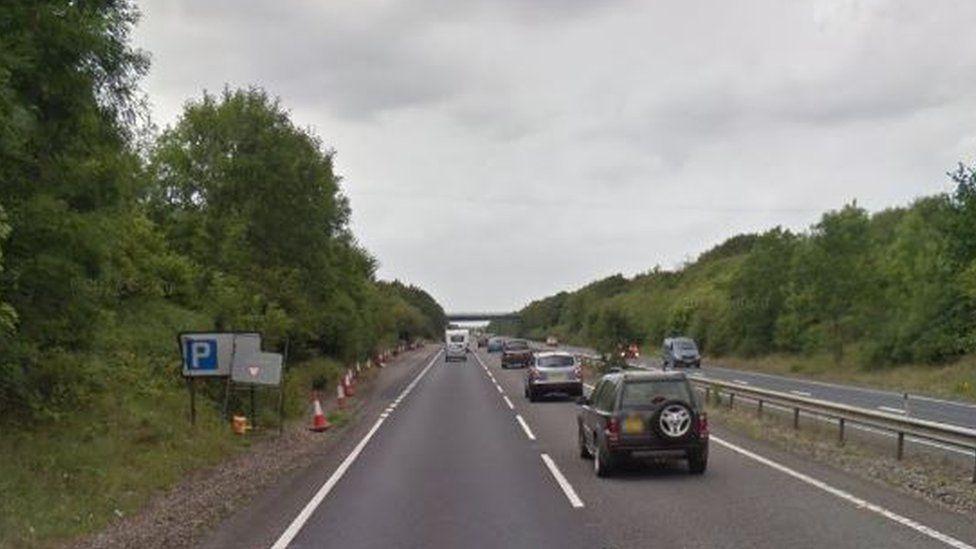 A14 near Stowmarket