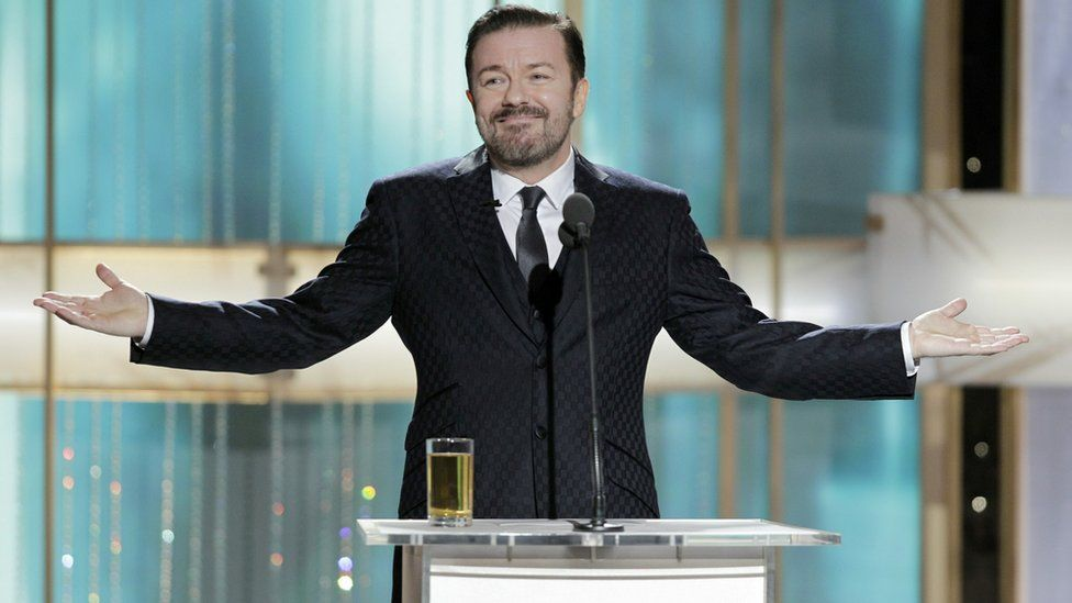 Ricky Gervais at the Golden Globes on 2011