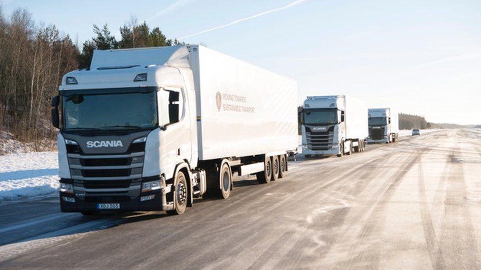 Scania lorries