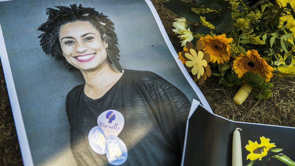 A tribute to Marielle Franco in Berlin, Germany