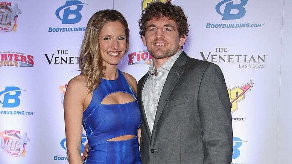 Ben Askren with friendly, Wife Amy Askren