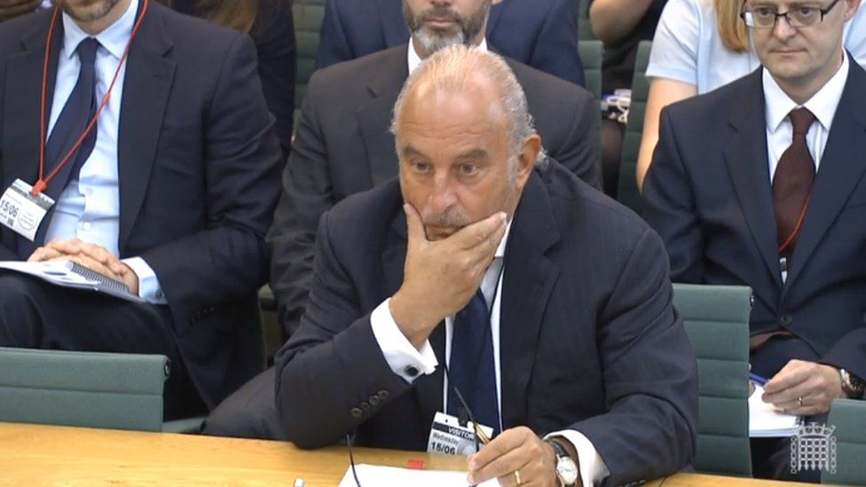 Sir Philip Green gives evidence to the Business, Innovation and Skills Committee and Work and Pensions Committee at Portcullis House, London, on the collapse of BHS. Picture date: Wednesday June 15, 2016
