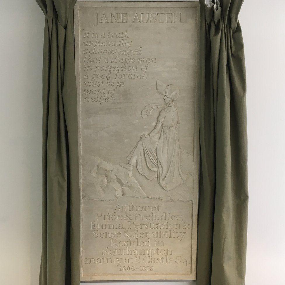 Plaque dedicated to Jane Austen