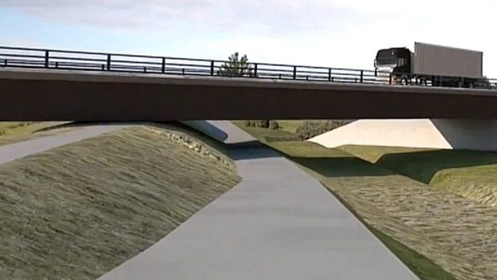 Artist's impression of Ely bypass