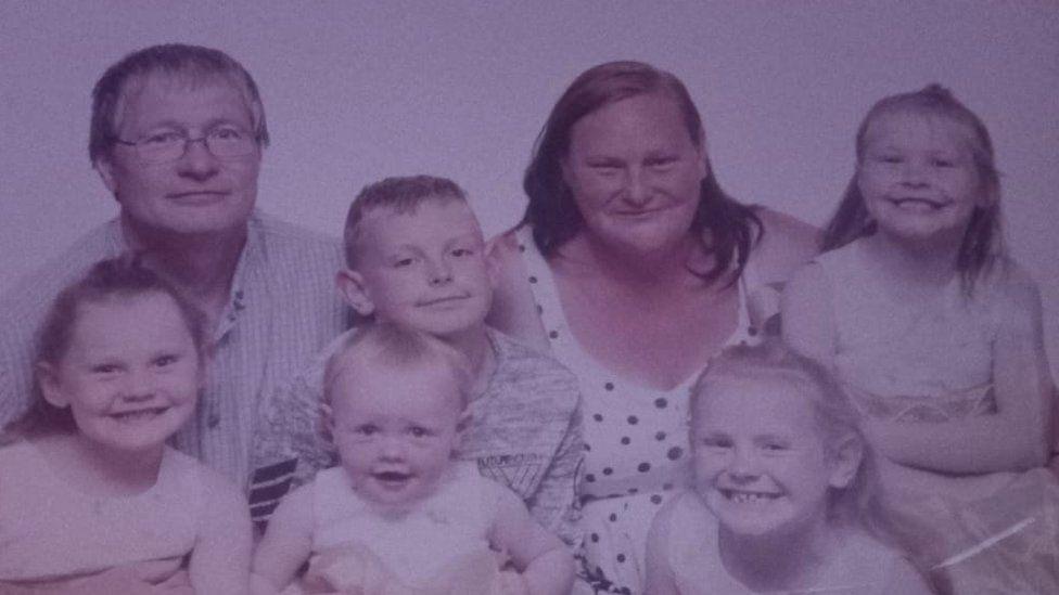 Jessica Hodson's family portrait