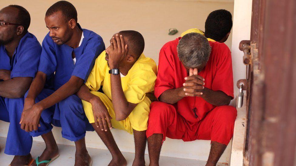 A prisoners in Garowe, Puntland