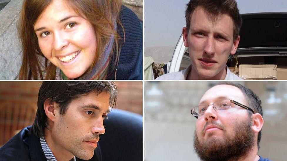 Kayla Mueller, Peter Kassig, Steven Sotloff and James Foley