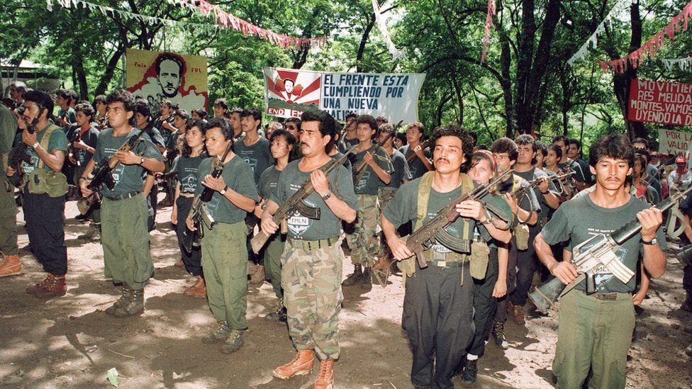 El Salvador militia after the signing of a peace agreement