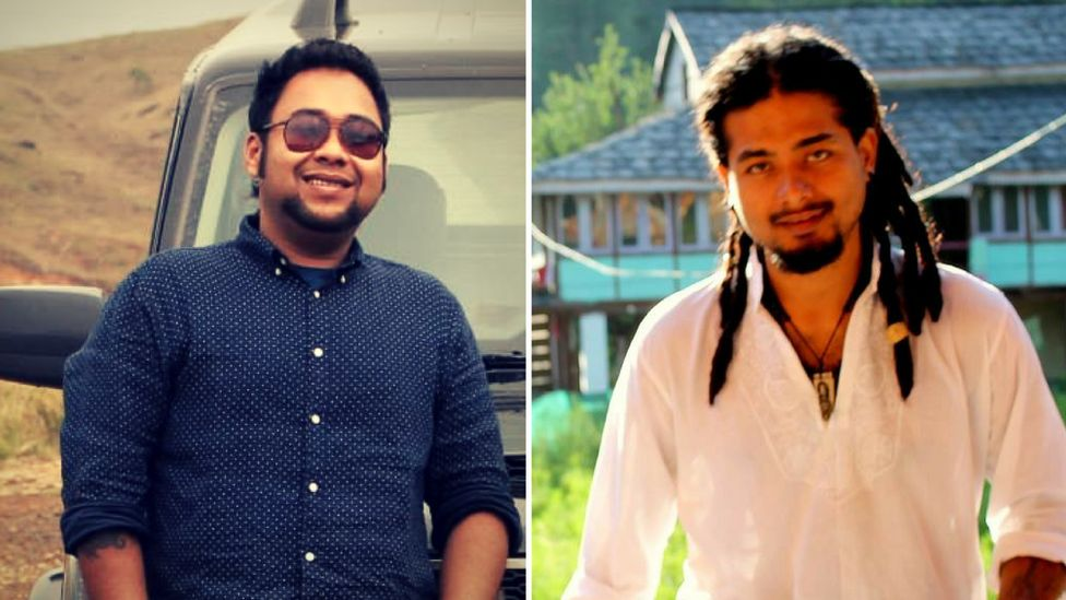 Abijeet Nath (L) and Nilotpal Das (R)