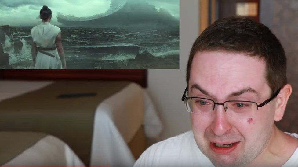 Eric Butts is crying while watching the new Star Wars trailer