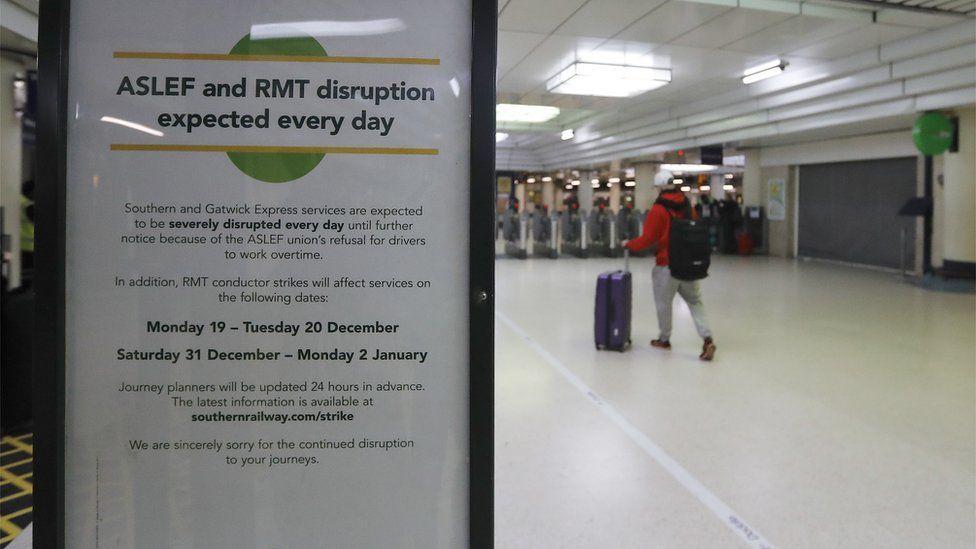 Disruption warning notice