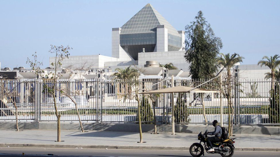 A view of the National Museum of Egyptian Civilisation, Cairo, Egypt, 2 April 2021