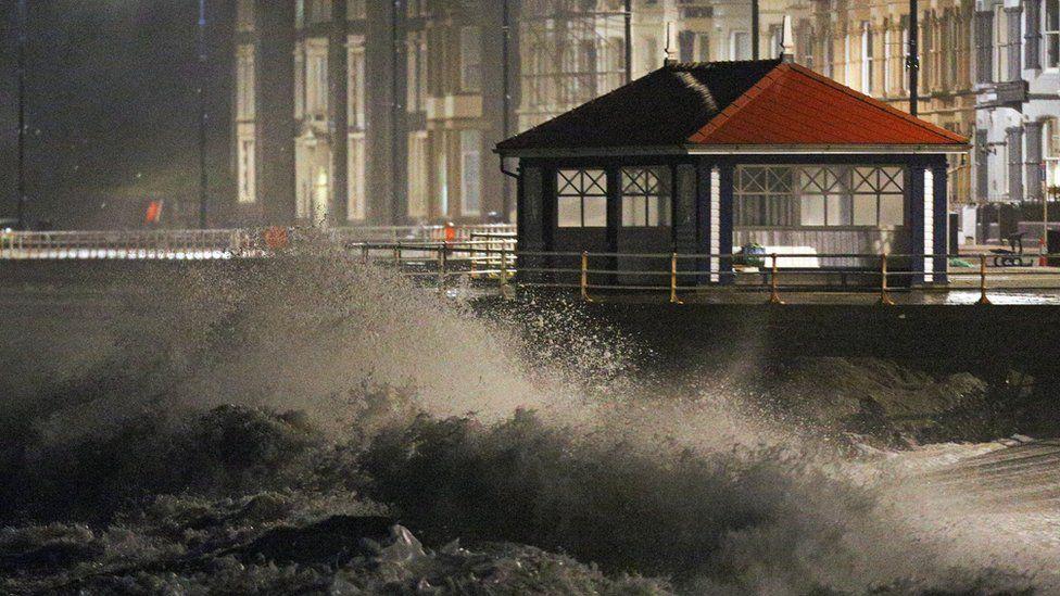 Aberystwyth during Storm Eleanor