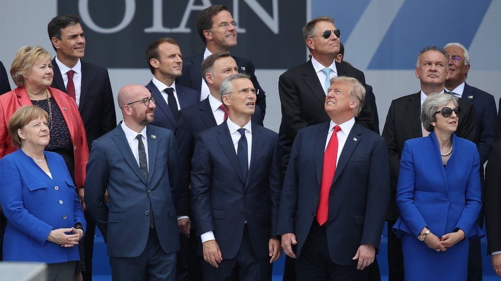 World leaders meet For NATO summit in Brussels in 2018