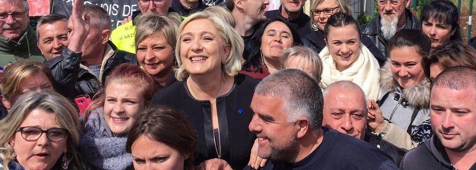Marine Le Pen in Amiens on 26 April