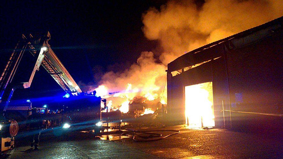 Fire in White Hart Lane