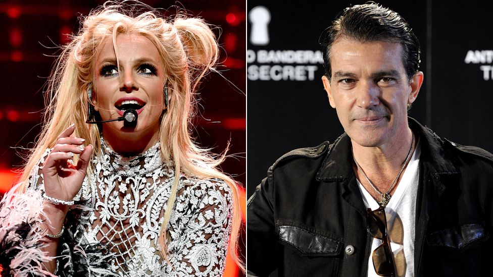 Britney Spears and Antonio Banderas