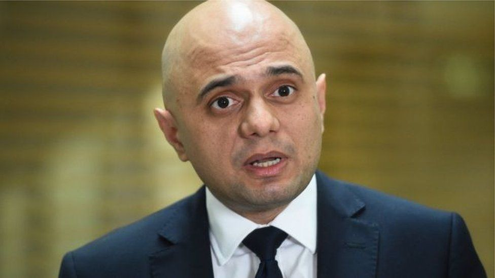 "Mr Javid said he would make a ""grand gesture"" to the Irish government"