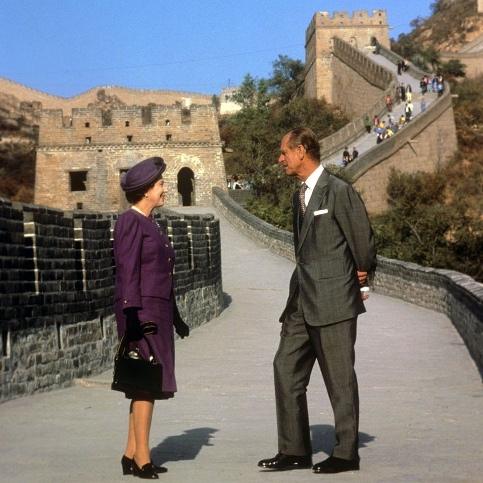 The Queen and Prince Philip in China in 1986
