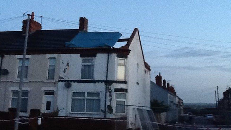Houses loses roof in Alfreton tornado