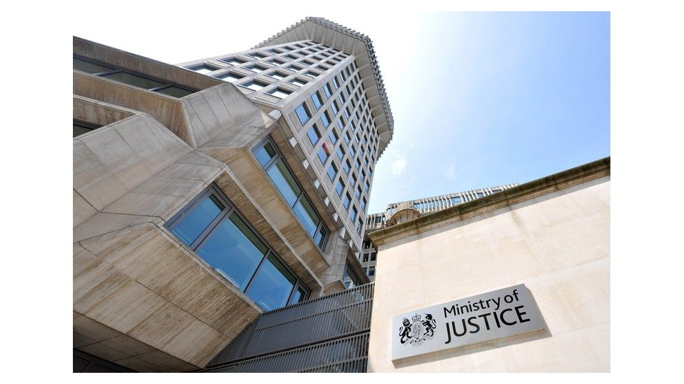 A photo of the Ministry of Justice building in Westminster, London