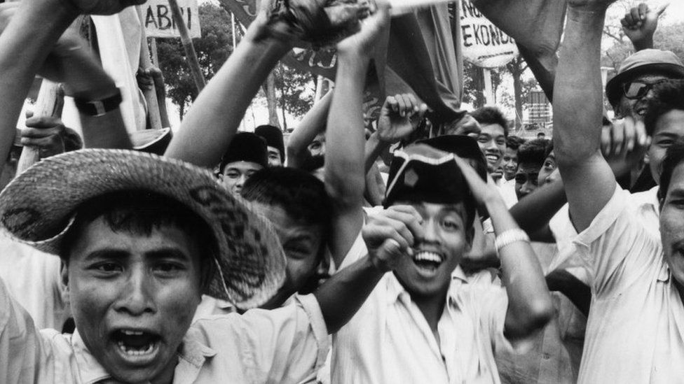 Student protest in Jakarta, 1965