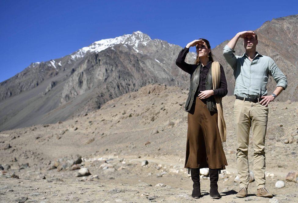 The Duke and Duchess of Cambridge visit the Chiatibo glacier in Pakistan