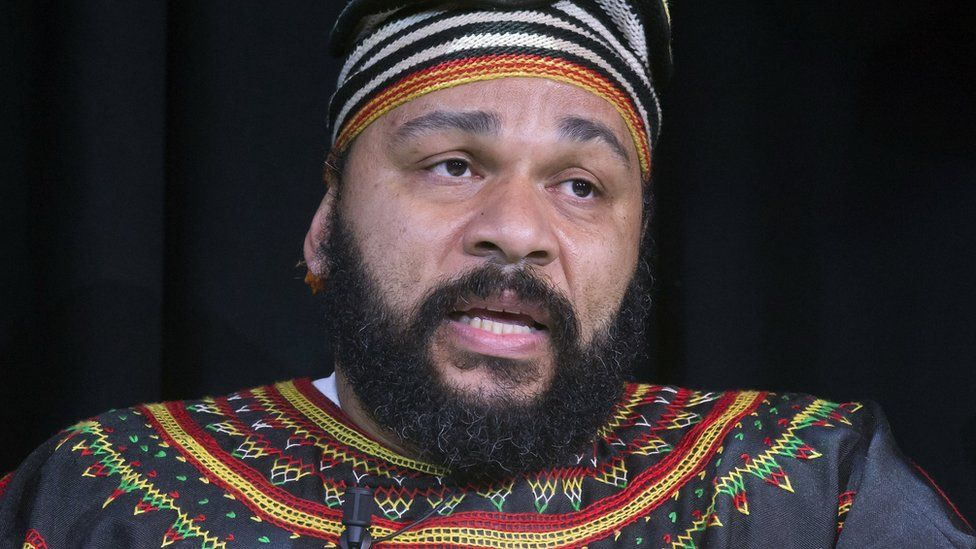 French comedian Dieudonne M'bala M'bala (11 January 2014)