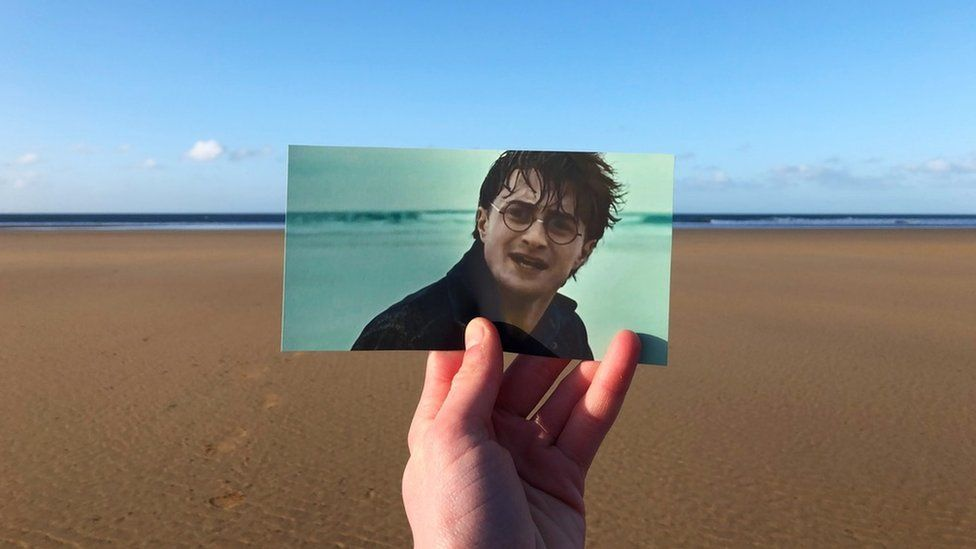 Thomas Duke recreates a scene from Harry Potter in Pembrokeshire