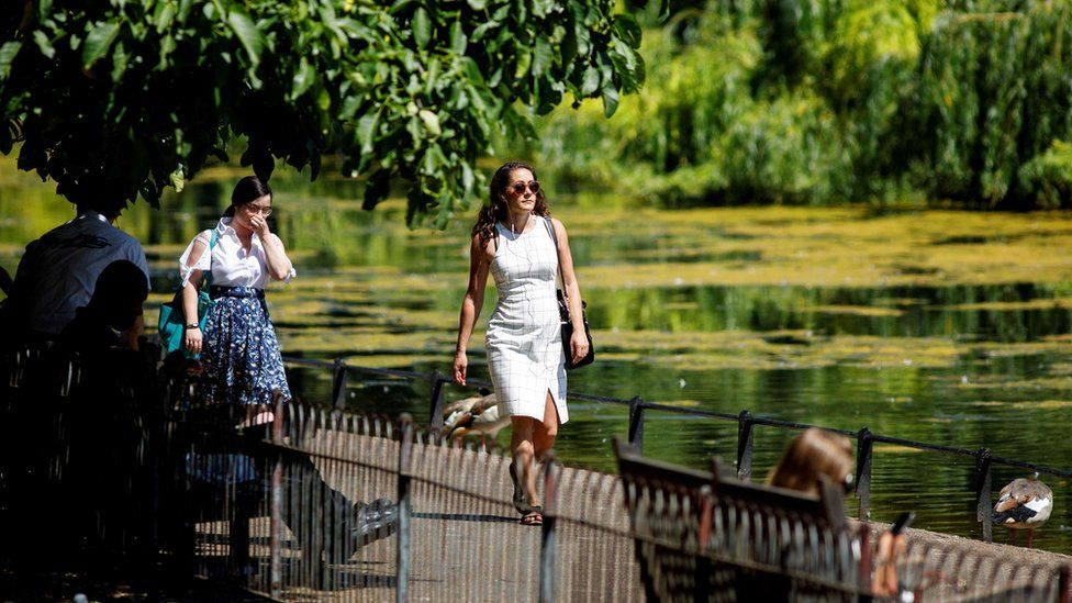 People strolling through St James's Park