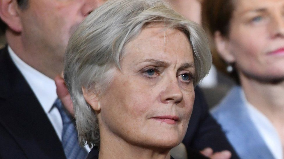 Penelope Fillon, the wife of French presidential candidate Francois Fillon, 29 January 2017