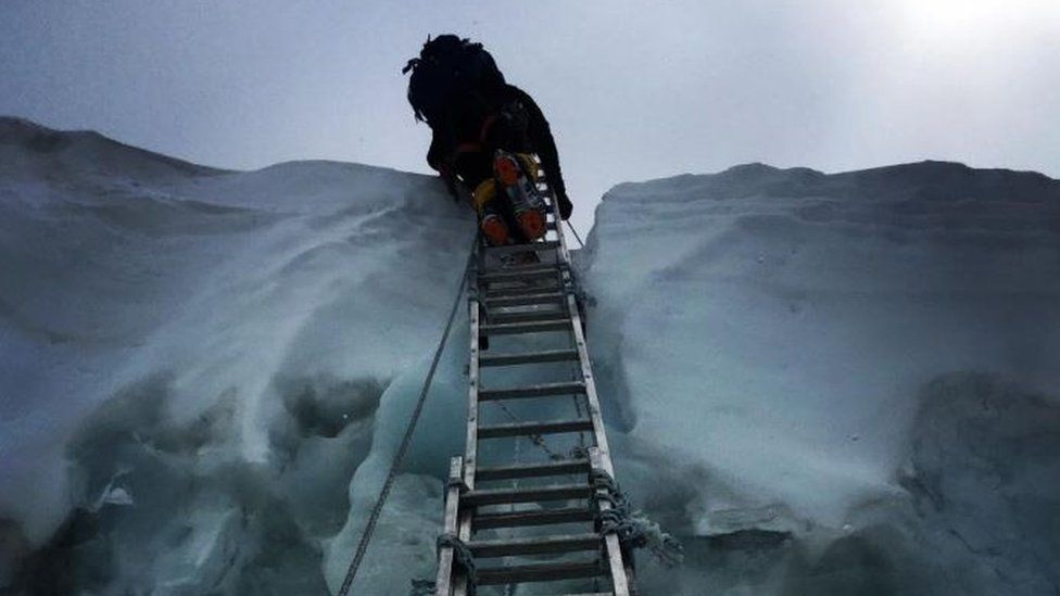 A ladder in the ice
