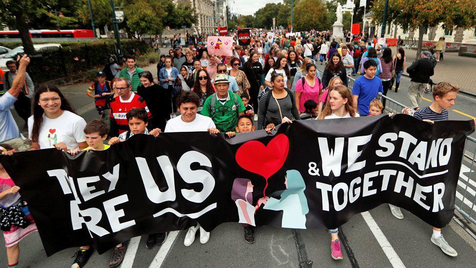 Christchurch march