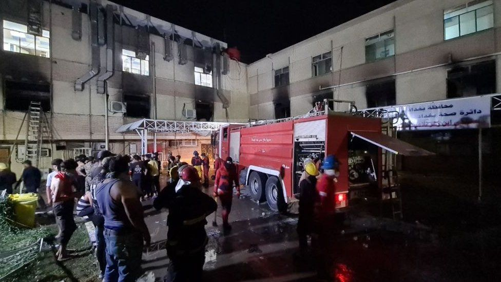 Iraq Covid hospital fire: At least 23 dead after 'oxygen tank explodes' thumbnail